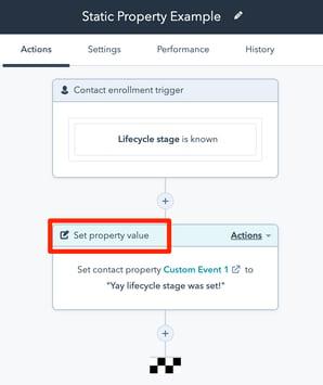 static-property-set-via-Hubspot-Workflow